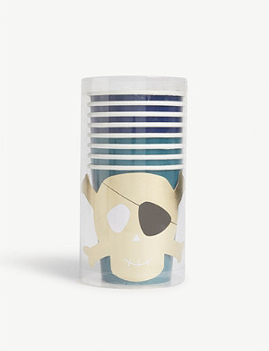 MERI MERI Pirates party cups set of 8