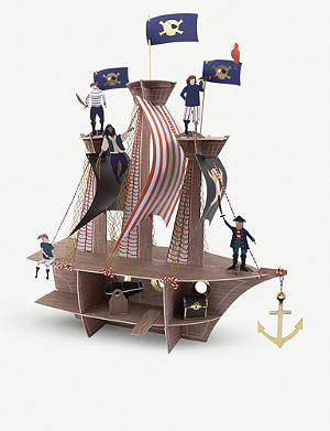 MERI MERI Pirate ship table centrepiece 53cm