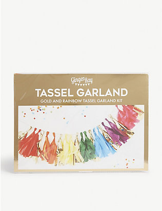 GINGER RAY: Rainbow tassel garland kit