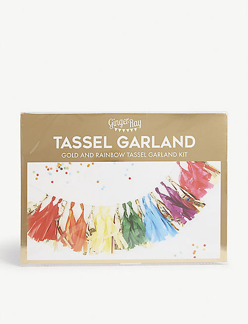 GINGER RAY Rainbow tassel garland kit
