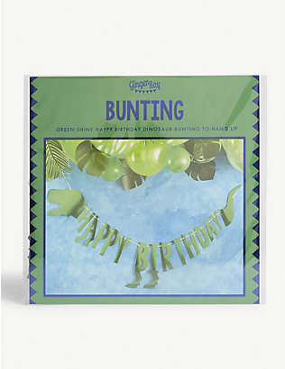 GINGER RAY: Dinosaur 'Happy Birthday' bunting