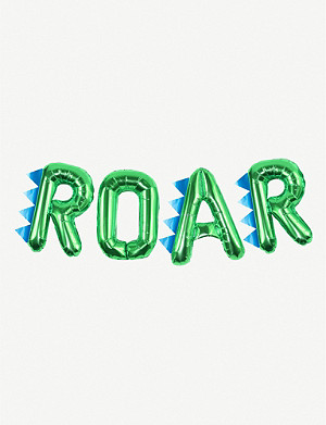 GINGER RAY Roar balloon bunting pack of four