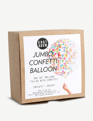 KNOT & BOW Jumbo confetti latex balloon