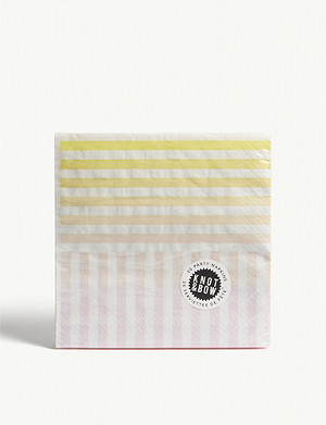 KNOT & BOW Gradient stripe paper napkins pack of 20