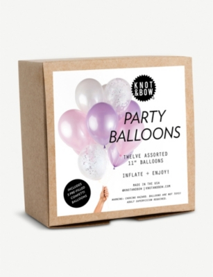 KNOT & BOW Unicorn Party Balloons pack of 12