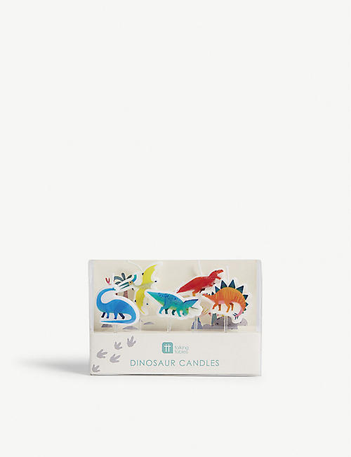TALKING TABLES: Dinosaur shaped candles set of 5