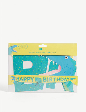 TALKING TABLES Dinosaur birthday garland 3.5m