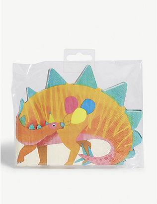 TALKING TABLES: Dinosaur party napkins set of 16