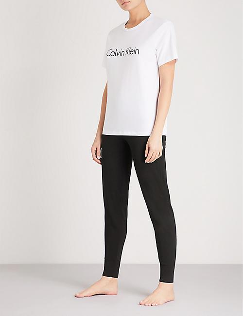 3e98ca6ef CALVIN KLEIN Logo-print cotton-jersey T-shirt