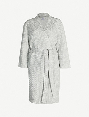 CALVIN KLEIN Quilted cotton-blend jersey robe
