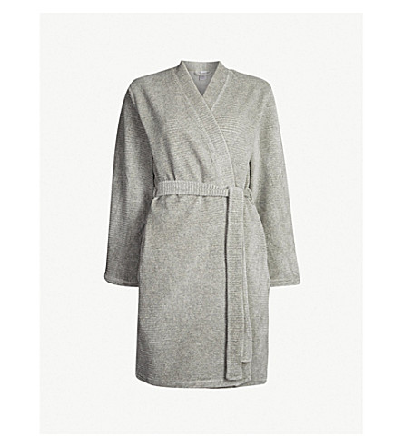 d6a2924e309a CALVIN KLEIN - Ribbed velour dressing gown