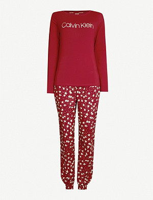 CALVIN KLEIN Boxed stretch-cotton pyjama set