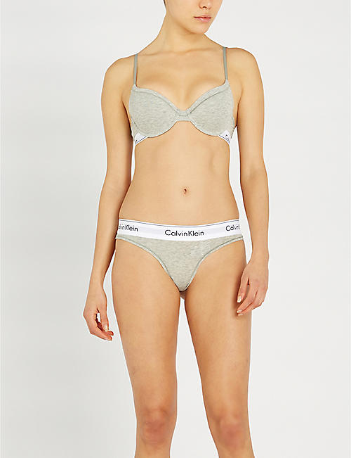 CALVIN KLEIN Modern stretch-cotton T-shirt bra
