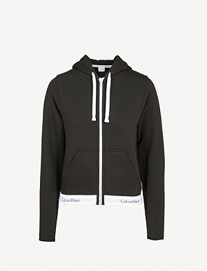 CALVIN KLEIN Modern Cotton zip-up cotton-jersey hoody