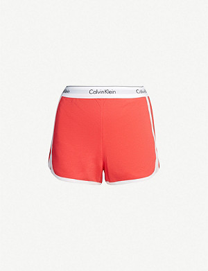 CALVIN KLEIN Modern Cotton logo-waistband cotton-blend pyjama shorts