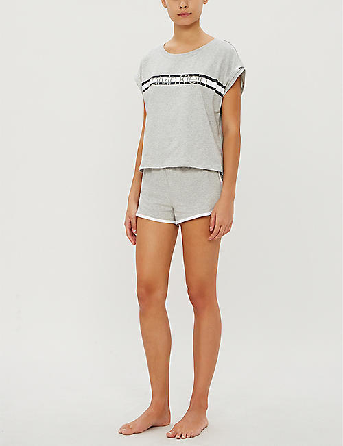 CALVIN KLEIN Millennial branded cotton-blend short pyjama set