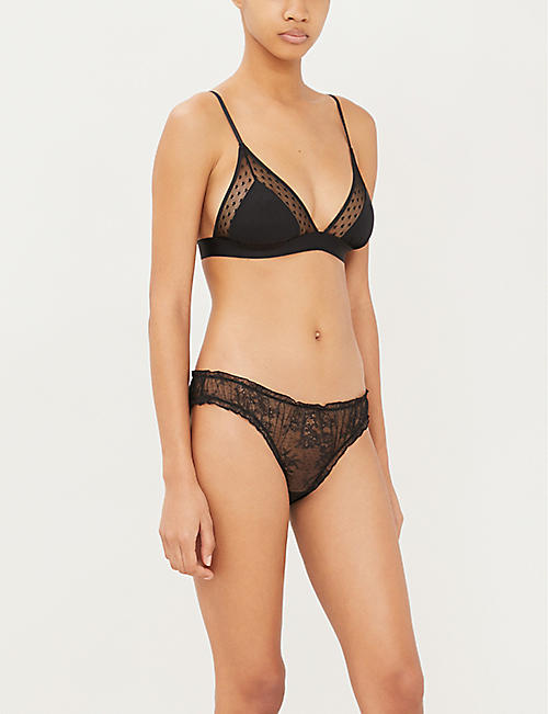 LOVE STORIES Jane M stretch-mesh bralette