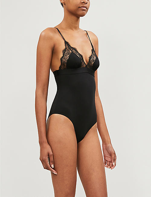LOVE STORIES Doris lace-trim stretch-jersey body