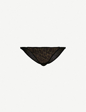 LOVE STORIES Rosie high-rise leopard-print mesh briefs