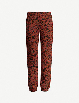 LES GIRLS LES BOYS Abstract-pattern cotton-jersey jogging bottoms