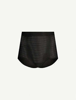 LES GIRLS LES BOYS Logo high-rise sports mesh briefs