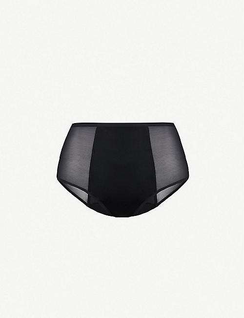 THINX High-waist stretch-cotton briefs
