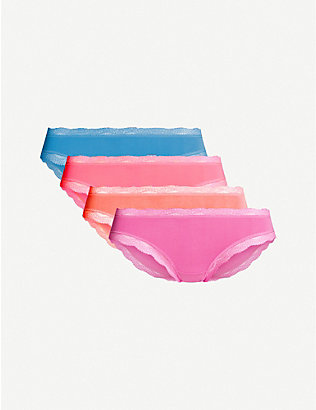 STRIPE & STARE: Set of four Basics Bright stretch-modal briefs