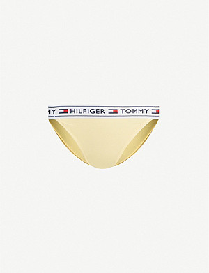 TOMMY HILFIGER Logo tape stretch-cotton bikini briefs