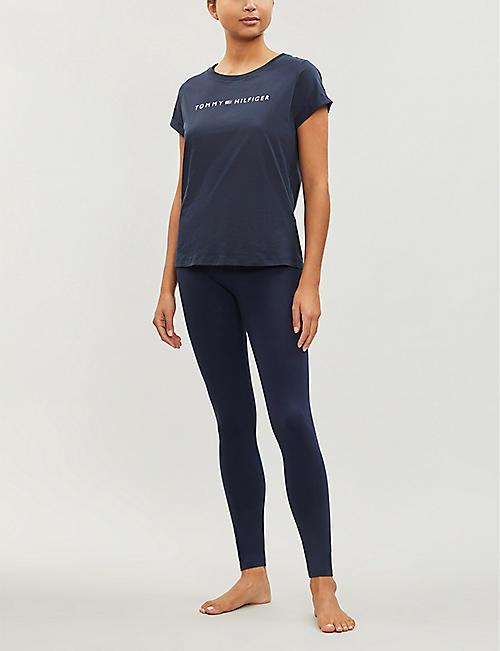 73d8b840e TOMMY HILFIGER Logo-print cotton-blend jersey T-shirt