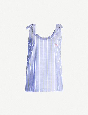 TOMMY HILFIGER Striped woven pyjama vest top