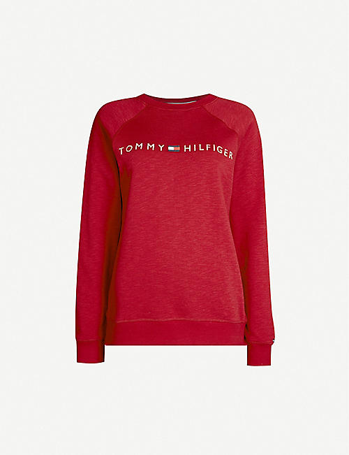 TOMMY HILFIGER Crew-neck track top