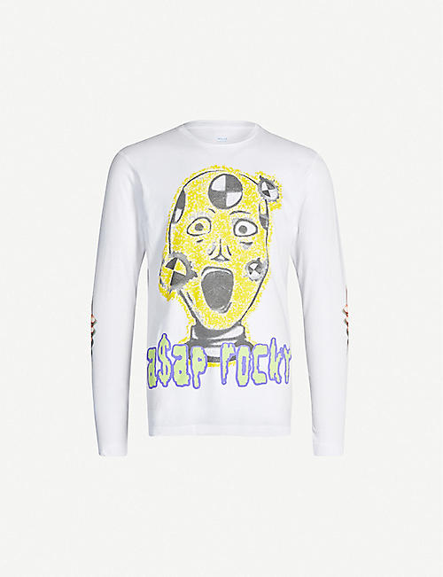 AWGE Injured Generation A$AP Rocky graphic-print cotton-jersey top