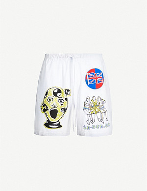 AWGE Injured Generation A$AP Rocky graphic-print cotton-jersey shorts