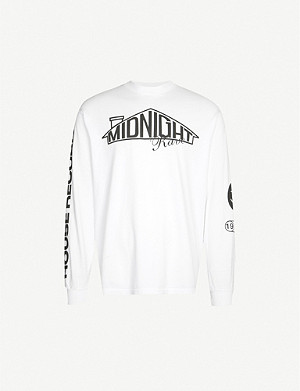 AWGE Gen Rave long-sleeved cotton-jersey top