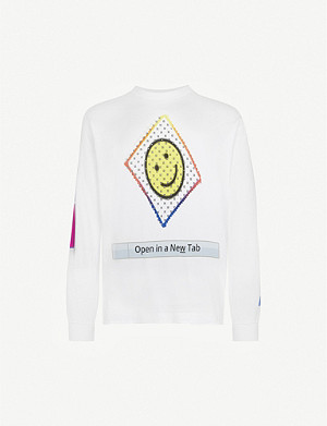 AWGE Graphic-print cotton-jersey T-shirt