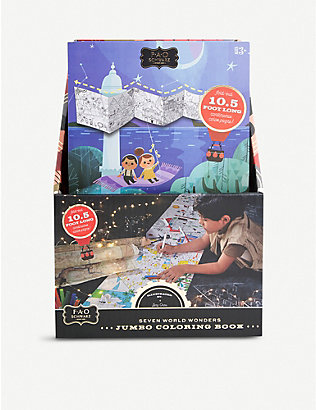 FAO SCHWARZ: Jumbo 7 Wonders of the World colouring book