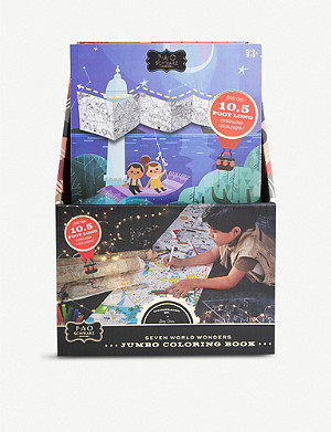 FAO SCHWARZ Jumbo 7 Wonders of the World colouring book