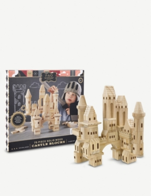 FAO SCHWARZ Wooden building blocks Castle 75pc set