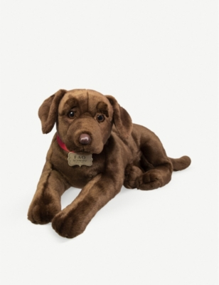 PLUSH Chocolate labrador plush toy 62cm