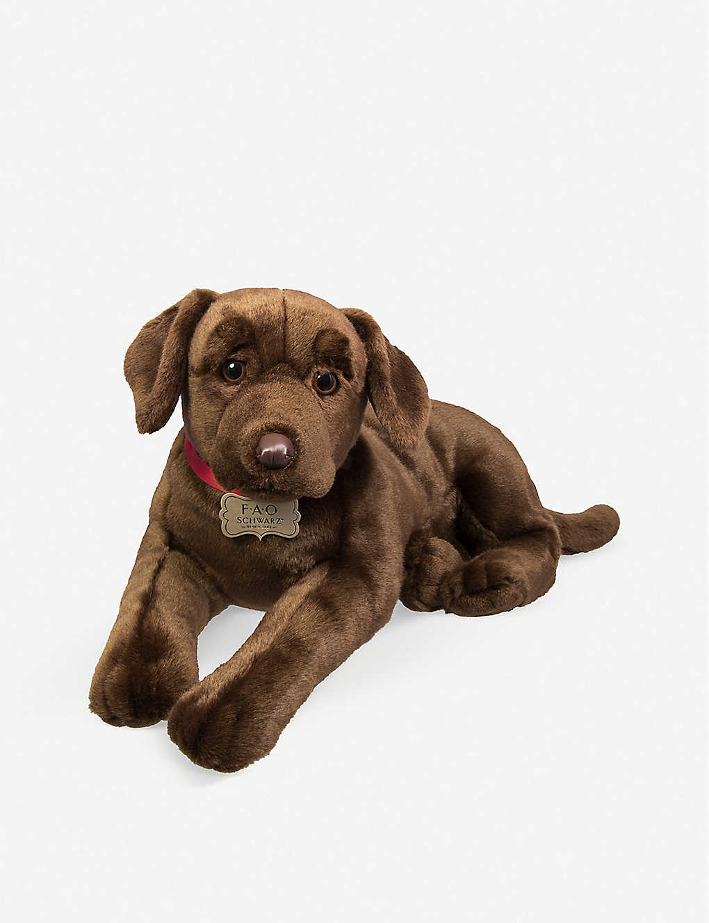 FAO PLUSH: Chocolate labrador plush toy 46cm