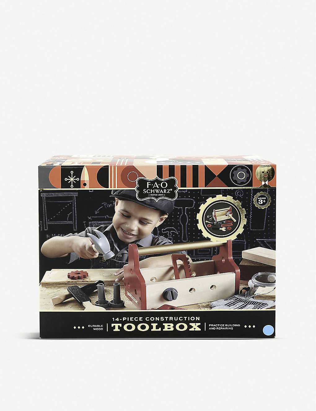 FAO SCHWARZ: Wooden tool box 14-piece set