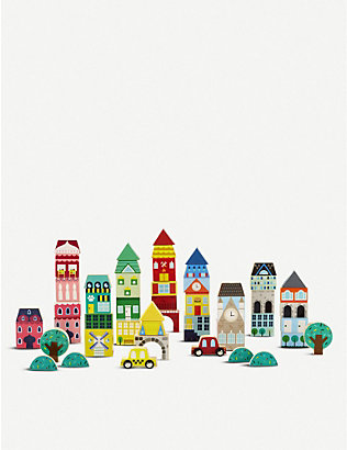 FAO SCHWARZ: Wooden building blocks Town 50-piece set