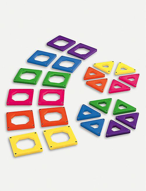 FAO SCHWARZ Toy magnetic tiles set of 24 pieces