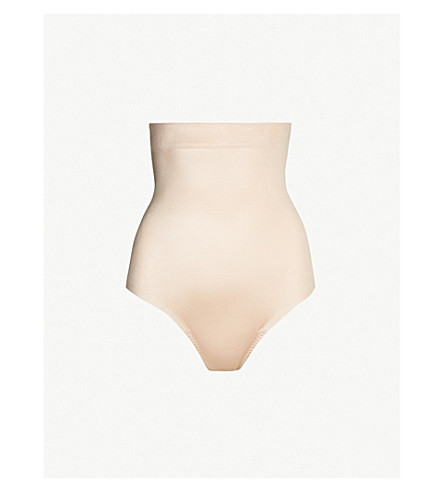 56bad77b95 SPANX Suit Your Fancy high-rise stretch-jersey thong (Champagne+beige
