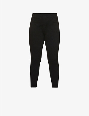 SPANX Jean-ish cotton-blend leggings
