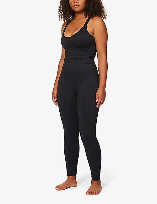 SPANX Look At Me high-waist stretch-jersey leggings