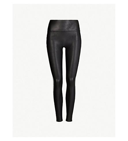 28b36a46b1 SPANX Side-stripe faux-leather leggings (Vryblk+white