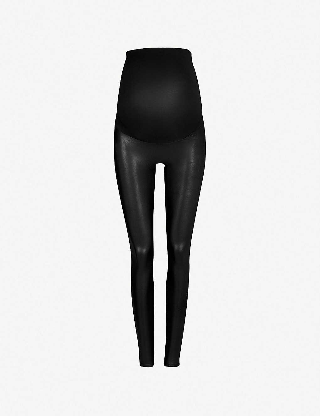 3ca0fc30fae24a SPANX - Mama faux-leather leggings | Selfridges.com