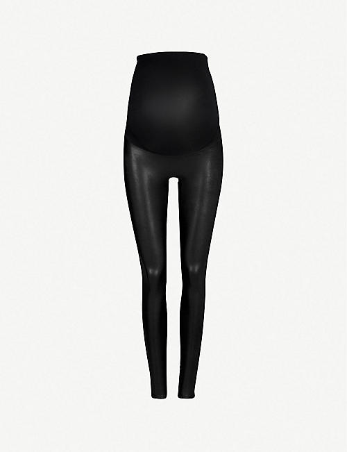SPANX: Mama faux-leather leggings