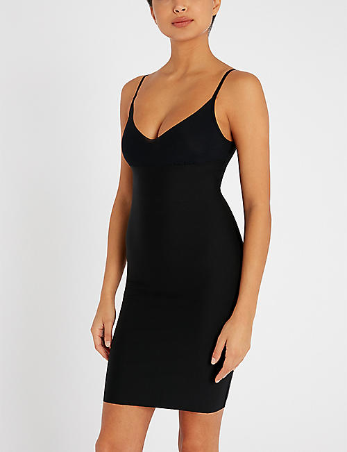 COMMANDO Two-Faced Tech microfibre slip dress